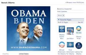 Obama's campaign Facebook page
